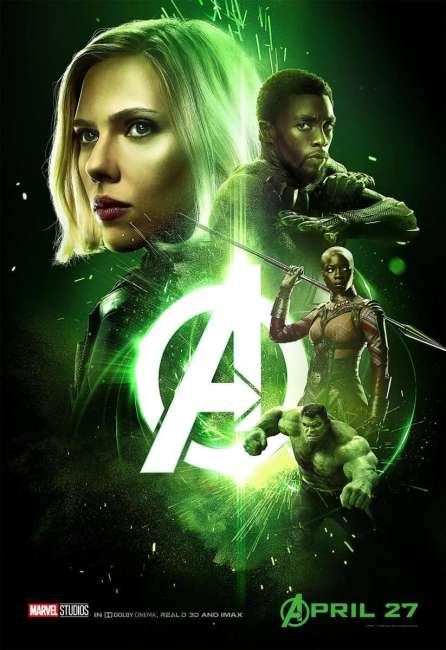 Black Widow and Black Panther round up the last poster for Infinity War.