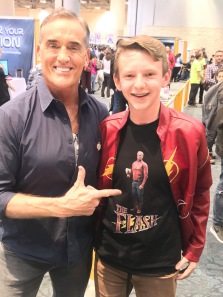 Appearing at Comic-Con Toronto John Wesley Shipp met fans and signed the first action figure for a lucky fan.