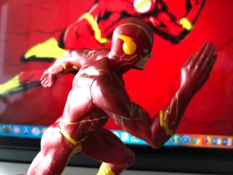 "Side View of ""The Flash"" figurine."